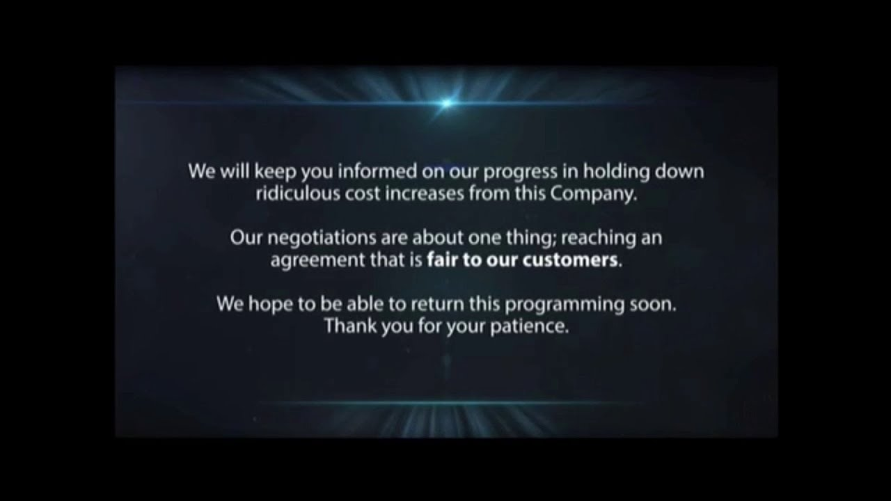 Spectrum/Tribune Broadcasting January 2019 carriage dispute message (FOX &  CBS)