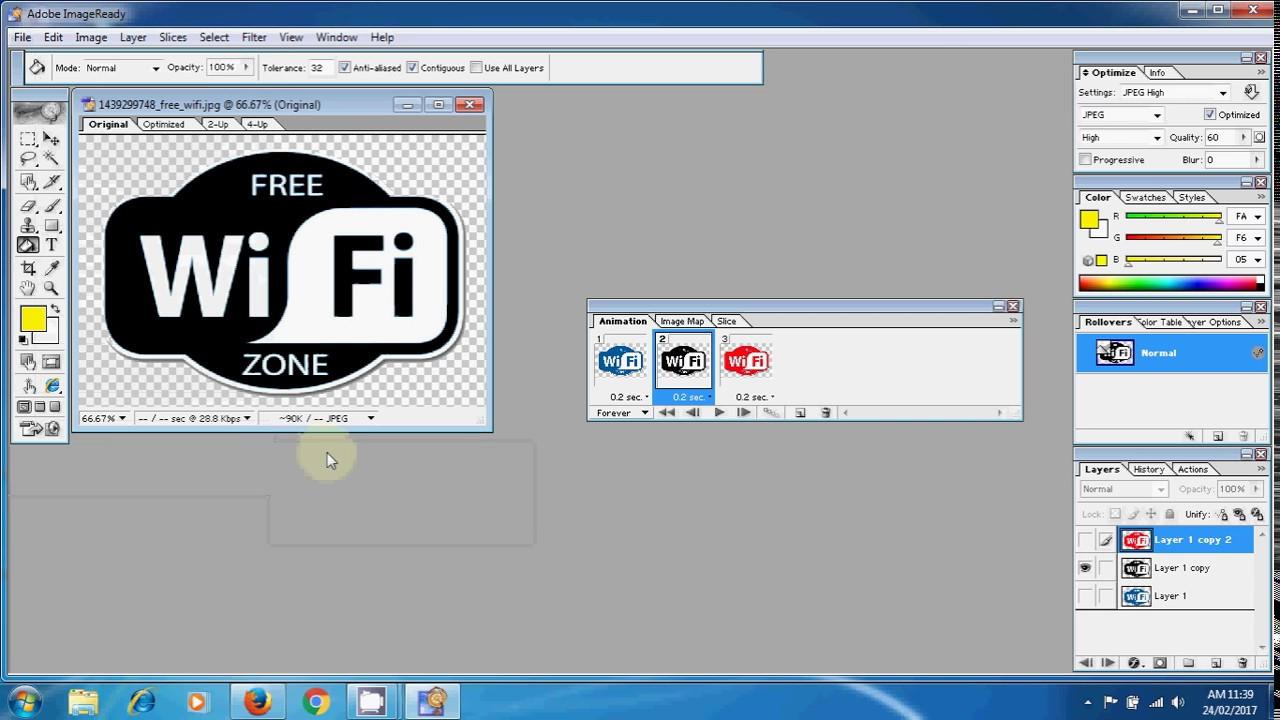 How To Create Animation Using Adobe Image Ready Youtube
