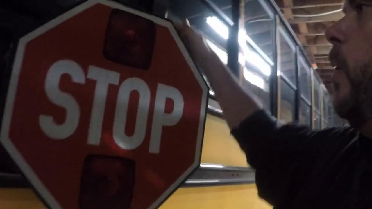 2012 thomas built saf t liner school bus stop arm repair [ 1280 x 720 Pixel ]