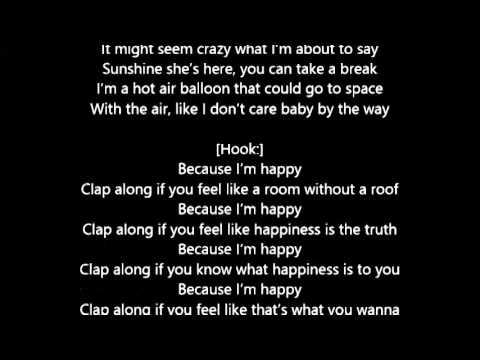 Pharrell Williams - Happy lyrics - YouTube