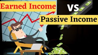 Passive Income VS Earned Income Main difference in hindi || Ways to earn passive income and be rich.