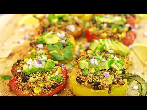 Quinoa Stuffed Peppers (Vegan)