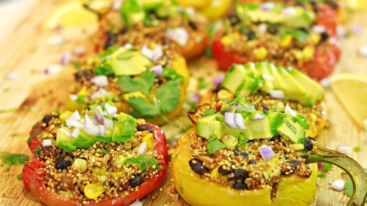 Quinoa Stuffed Peppers (Vegan)