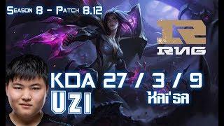 RNG Uzi KAI'SA vs BRAND ADC - Patch 8.12 KR Ranked