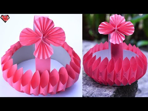 How To Make Beautiful Baskets With Paper | DIY Cardboard Basket | Easy Craft Ideas