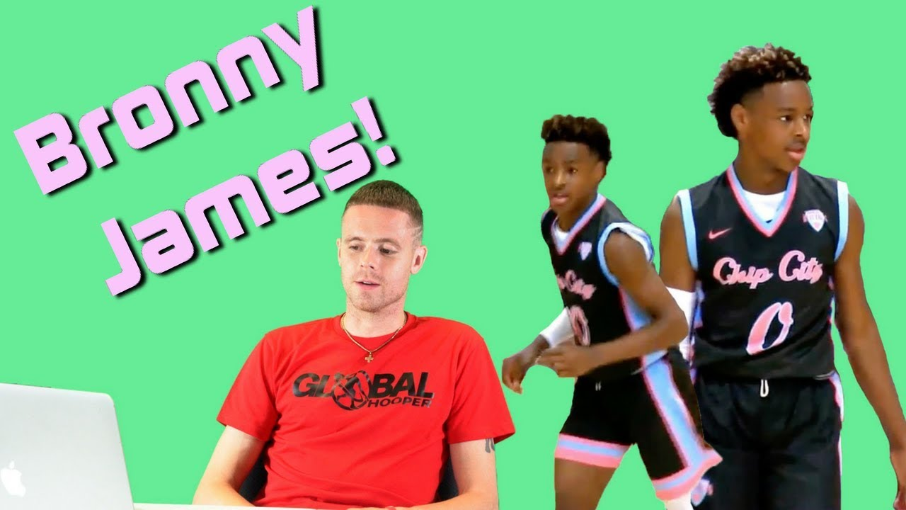 The Professor Reacts to Bronny James in Game Dunk?! Lebron James son.