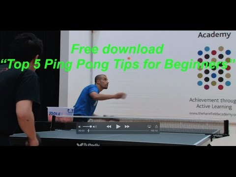 Top 5 Ping Pong Tips For Beginners Free Download - eBook
