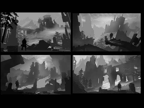 Environment Design Week 02 : Value Sketching