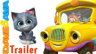 🚍 The Wheels on the Bus Song – Trailer | Nursery Rhymes and Kids Songs from Dave and Ava 🚍