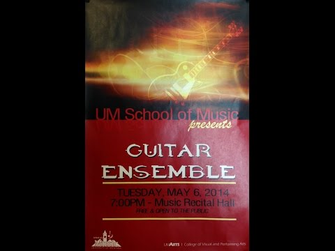 University of Montana Guitar Ensemble Spring 2014