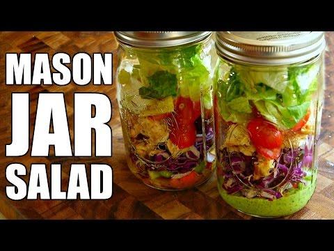 Easy Mason Jar Salad + 2 Salad Dressing Recipes | Healthy Lunch Ideas