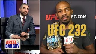 Jon Jones talks UFC 232 win, Daniel Cormer, spurns Chael Sonnen | Ariel & The Bad Guy