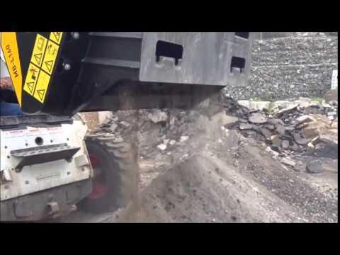 Mb Crusher Mb L 160 Skid Steer Crusher Bucket Crushing