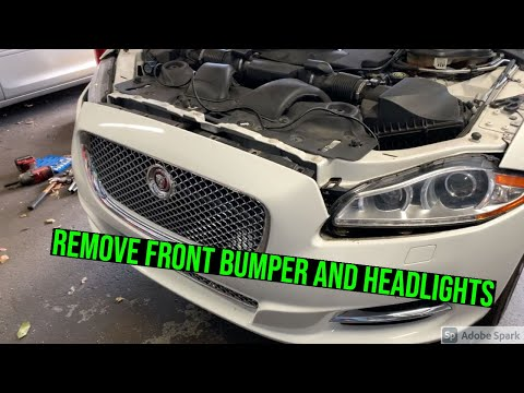 How to remove the bumper and headlights on a Jaguar XJ X351