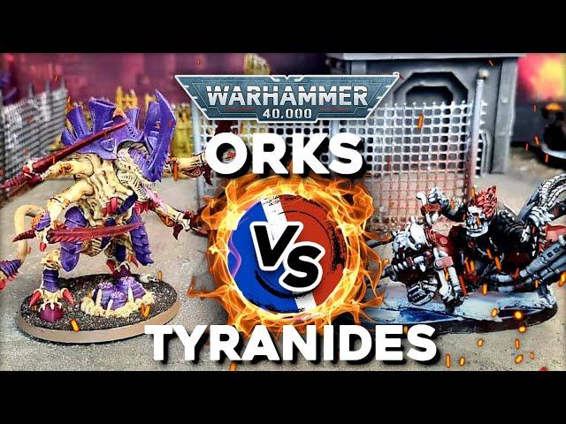 RAPPORT DE BATAILLE WARHAMMER 40000 - Orks VS Tyranides - 2000pts compétitif