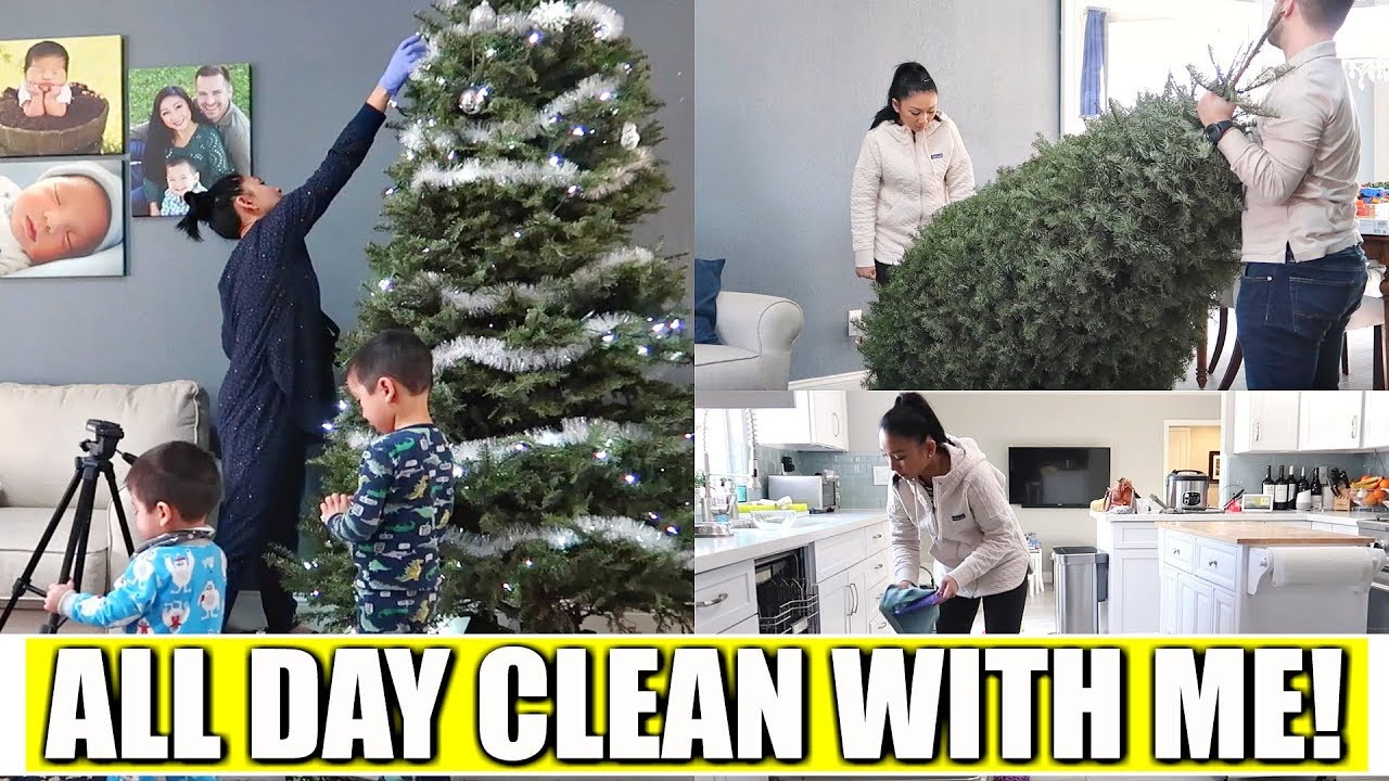 Idee Deco Chic Et Choc all day clean with me!   new year cleaning motivation! cleaning out  christmas decor with family!
