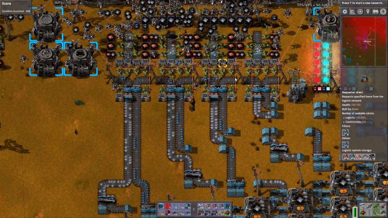 Smelt Inc  - Factorio - My first train based furnace  - Most