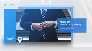 기업 소개, 연혁 영상…