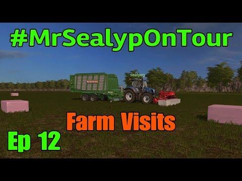 Let's Play Farming Simulator 17 PS4   MrSealypOnTour, Ep 12 Farm Visits! SealyEG