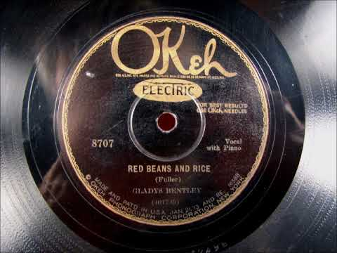 RED BEANS AND RICE Blues by Gladys Bentley from 1929 Mp3