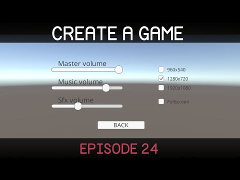 Unity Create a Game Series (E24. Menu)