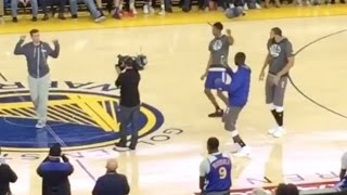 Kevin Durant And Draymond Green Hit Juju On That Beat At Warriors Game