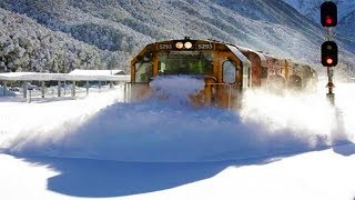 Funniest Trains Moving Through Snow Compilation