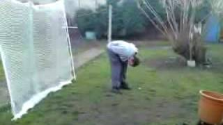 sam ballard geting hit in the head with a golf ball ends up with a bum head