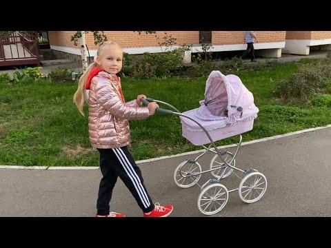 У Алисы новый малыш ЛЕНИВЕЦ ТЁМА !!! Идём на прогулку с коляской!