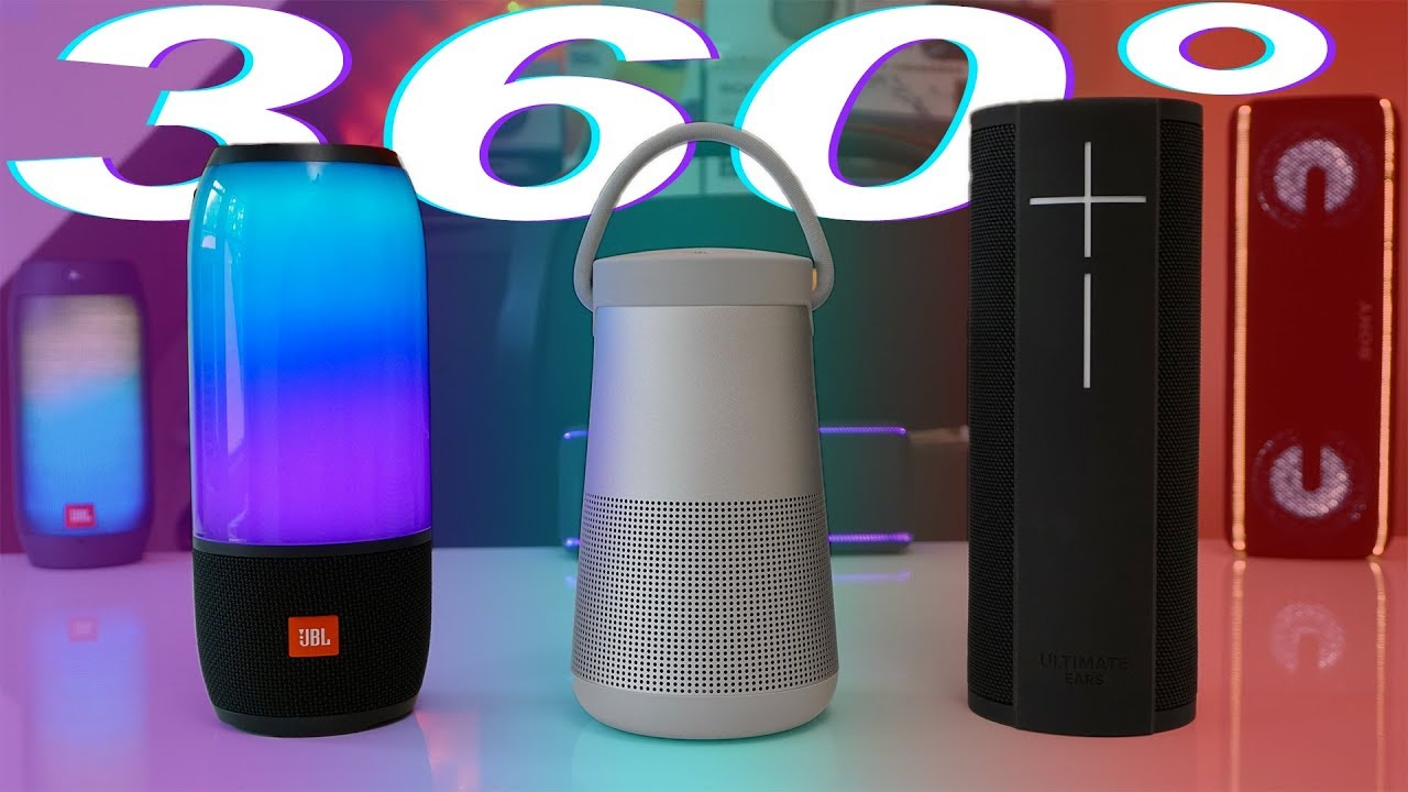 360 Degree Speakers Compared - JBL Pulse 3 Vs Bose Soundlink Revolve Plus  Vs UE Megablast
