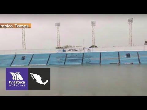 Se inunda estadio de la Jaiba Brava de Tampico