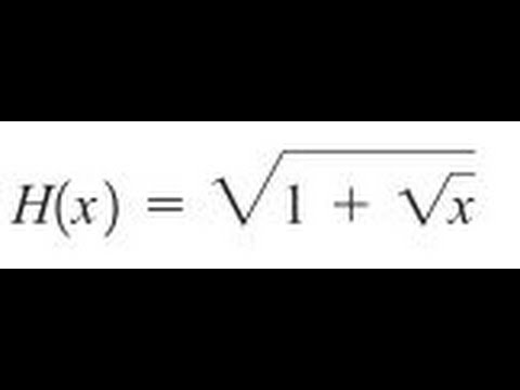 Express the function in the form f of g for for sqrt(1+sqrt(x ...