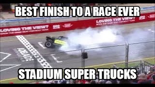 BEST FINISH TO A RACE EVER  - Stadium SUPER Trucks - Adelaide 2018 Race 3