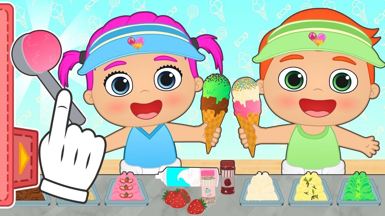 Bebes Alex Y Lily Aprende A Hacer Helados Con Los Bebes Juegos Y Dibujos Animados De Cocina Youtube