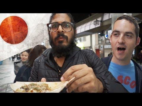 JAPANESE FOOD at NIGHT with Here Be Barr Shinsekai Osaka Japan