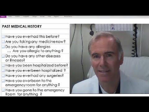 7 BASIC Questions  for the Past Medical History in English