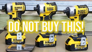 DON'T BUY DeWALT TOOLS NEWEST IMPACT DRIVER AND HERE'S WHY...