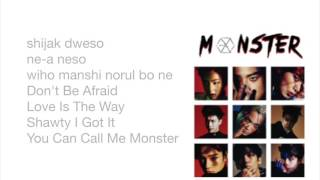 exo monster easy lyrics