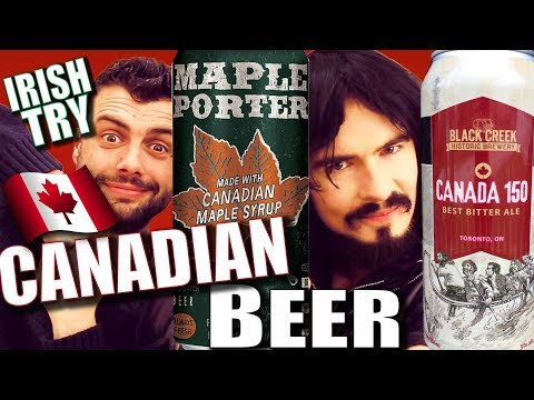 Irish People Taste Test 'CANADIAN CRAFT BEER' - First Time!!