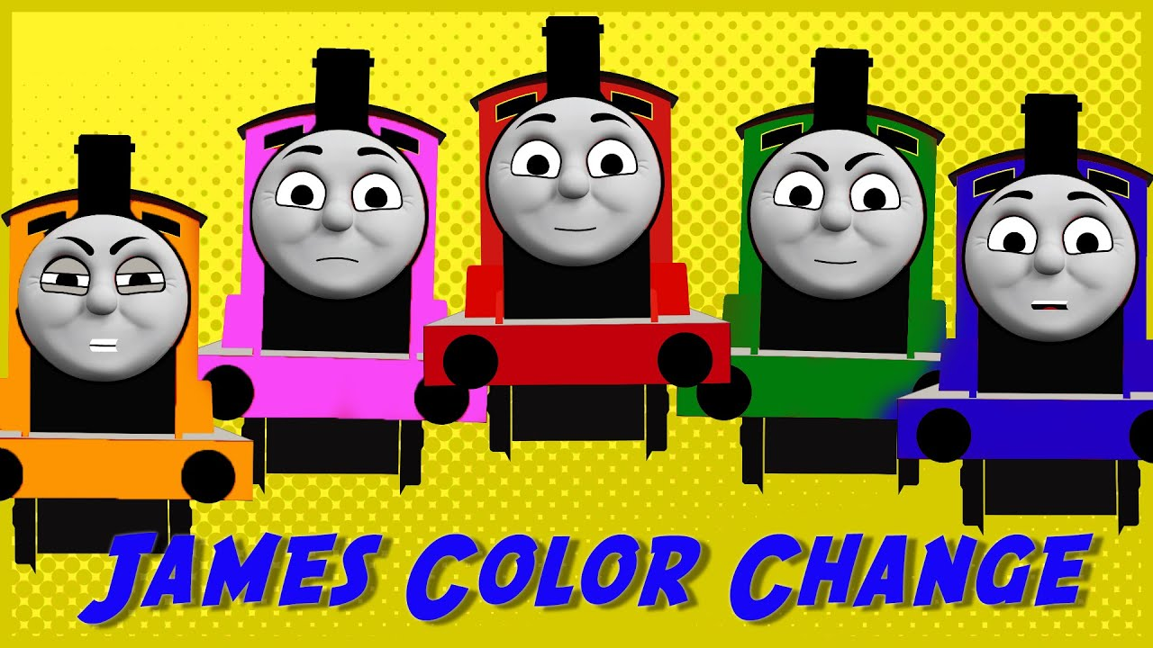 Thomas and Friends Color Change Game with James the red engine ...
