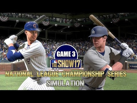 MLB The Show 17 | Cubs vs Dodgers National League Championship Series Game 3 Simulation