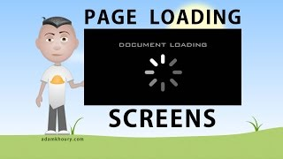 Page Loading Screen Document Preloader Tutorial JavaScript CSS HTML