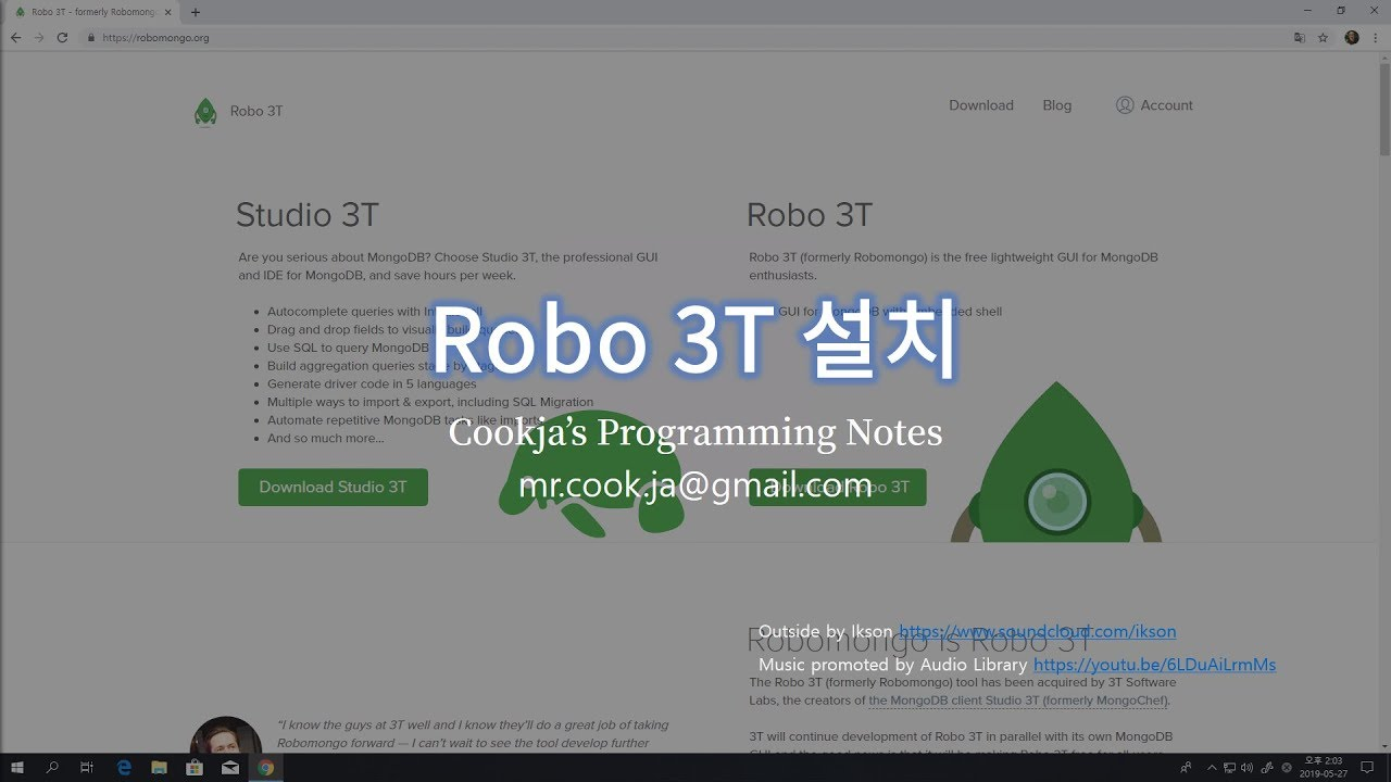 Robo 3T 설치