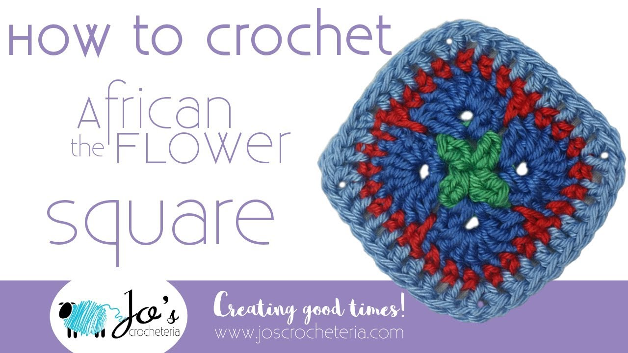 Crochet African Flower Square Video Tutorial By Jos Crocheteria