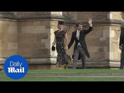 Ellie Goulding And James Blunt Arrive At The Royal Wedding
