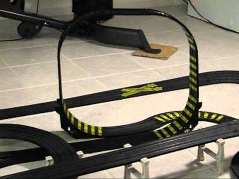 Tyco Slot Car Anti-Gravity Loop with Slow Motion!
