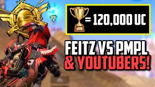 FEITZ VS PMPL PLAYERS, YOUTUBERS & MORE IN KARAKIN TOURNAMENT! | PUBG Mobile