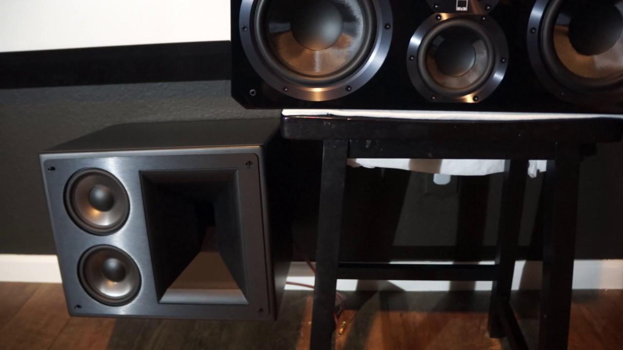 klipsch 525 thx ultra 2 vs svs ultra center speakers. Black Bedroom Furniture Sets. Home Design Ideas