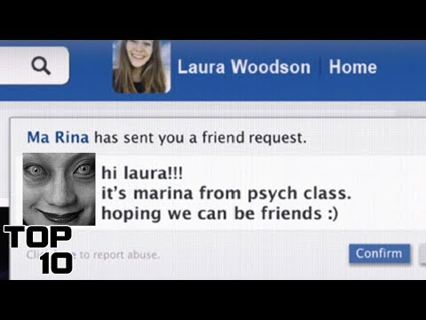 Top 10 Scary Friend Requests