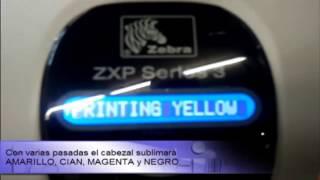 видео Принтер пластиковых карт Zebra ZXP 7